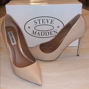 Steve Madden Nude Authentic Leather Pumps/Heels!